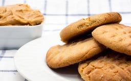 Cookies de manteiga do amendoim Fotos de Stock