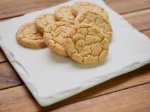 Cookies de manteiga, doces, redondos Imagem de Stock