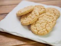 Cookies de manteiga, doces, redondos Fotos de Stock Royalty Free
