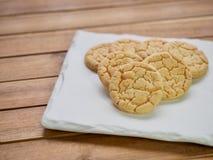 Cookies de manteiga, doces, redondos Foto de Stock