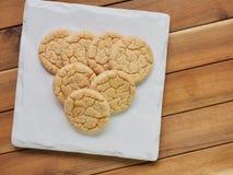 Cookies de manteiga, doces, redondos Foto de Stock Royalty Free