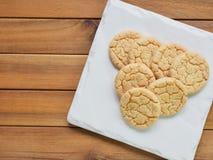 Cookies de manteiga, doces, redondos Imagem de Stock Royalty Free
