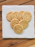 Cookies de manteiga, doces, redondos Fotografia de Stock Royalty Free