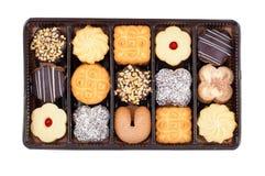 Cookies de manteiga empacotadas Fotografia de Stock