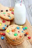 Cookies de manteiga gigantes do amendoim Imagem de Stock Royalty Free