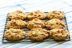 Cookies de manteiga recentemente cozidas do amendoim Imagens de Stock