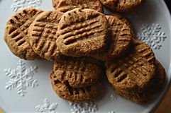 Cookies de manteiga sem glúten do amendoim Fotografia de Stock