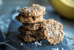 Cookies de Paleo da banana Imagem de Stock