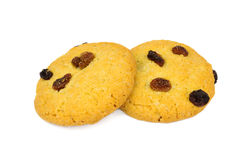 Cookies de passa caseiros isoladas no fundo branco imagens de stock royalty free