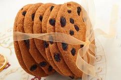 Cookies de passa com fita dourada Imagens de Stock
