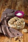 Cookies de passa da farinha de aveia Foto de Stock