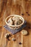 Cookies de passa da farinha de aveia Imagem de Stock Royalty Free