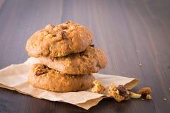 Cookies de passa do chocolate Fotografia de Stock