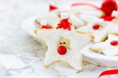 Cookies de Santa Claus Christmas imagens de stock