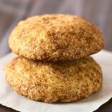 Cookies de Snickerdoodle com canela e açúcar Imagens de Stock Royalty Free