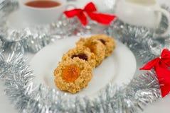 Cookies de Thumbprint Fotografia de Stock