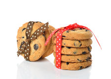 Cookies decorated with ribbons Royalty Free Stock Photography