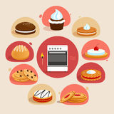 Cookies decorative set Royalty Free Stock Photo