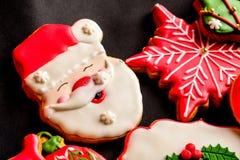 Cookies deliciosas do Natal prontas para ser comido fotografia de stock royalty free
