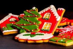 Cookies deliciosas do Natal prontas para ser comido fotografia de stock