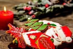Cookies deliciosas do Natal prontas para ser comido foto de stock royalty free