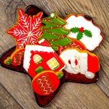 Cookies deliciosas do Natal prontas para ser comido foto de stock