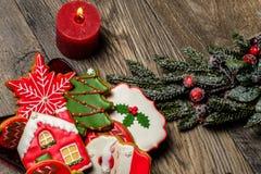 Cookies deliciosas do Natal prontas para ser comido imagens de stock