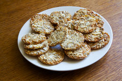 Cookies with different nuts Stock Photography