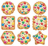 Cookies of different shape, vector  Stock Image