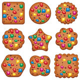 Cookies of different shape, vector  Royalty Free Stock Photography