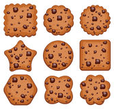 Cookies of different shapes, vector  Royalty Free Stock Photos