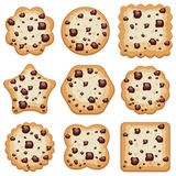 Cookies of different shapes, vector  Royalty Free Stock Images