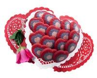 Cookies do amor Imagem de Stock