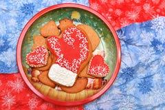 Cookies do ano novo Imagens de Stock Royalty Free