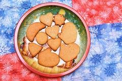 Cookies do ano novo Foto de Stock Royalty Free