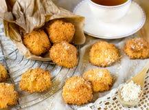 Cookies do bolinho de amêndoa de coco Imagens de Stock Royalty Free