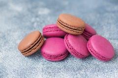 Cookies do bolinho de amêndoa roxas fotos de stock royalty free