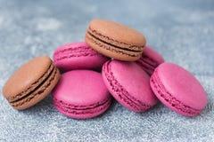 Cookies do bolinho de amêndoa roxas imagens de stock royalty free