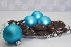 Cookies do bolo de chocolate Fotografia de Stock Royalty Free