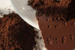 Cookies do café à terra e dos pedaços de chocolate Imagem de Stock Royalty Free
