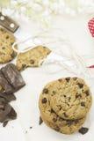 Cookies do chocolate imagens de stock