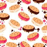 Cookies do chocolate com gelado Imagens de Stock Royalty Free