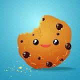 Cookies do chocolate da mordida ilustração stock