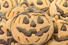 Cookies do chocolate de Dia das Bruxas imagens de stock