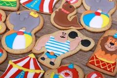 Cookies do circo Fotografia de Stock Royalty Free
