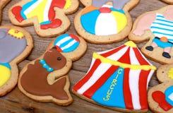 Cookies do circo Imagens de Stock Royalty Free
