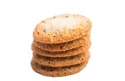 cookies do coco do chocolate imagens de stock