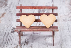 Cookies do coração foto de stock royalty free