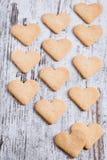 Cookies do coração Fotos de Stock Royalty Free
