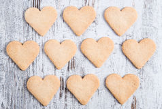 Cookies do coração Fotografia de Stock Royalty Free